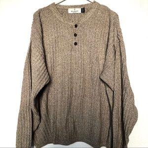 Vintage Bill Blass Henley Style Sweater USA Made